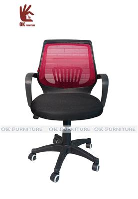 Ghế xoay văn phòng F050 đỏ